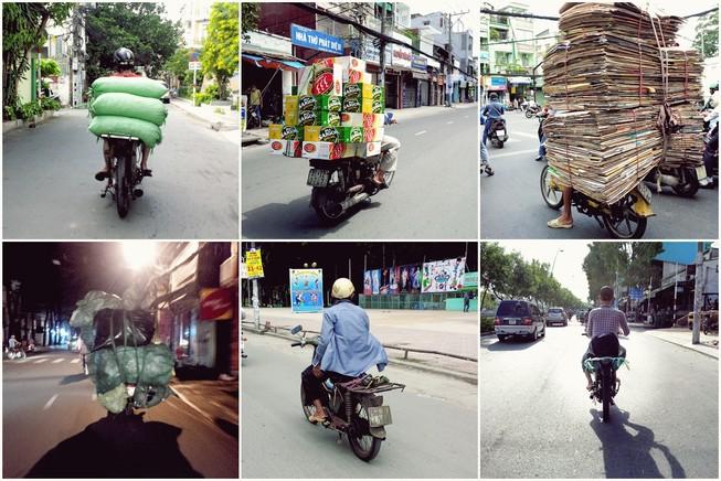 Ảnh vui 'người vận chuyển' Sài Gòn