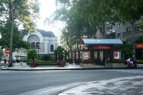 Tháo dỡ công viên - đài phun nước Nhà hát TP để làm metro