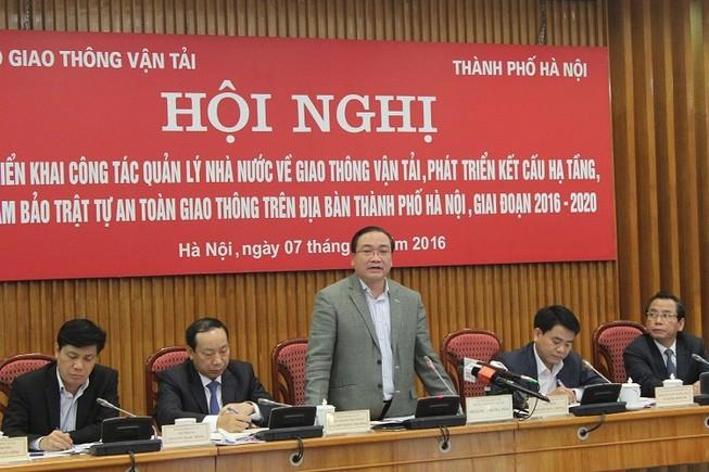 Ông Hoàng Trung Hải: Hạ tầng giao thông Hà Nội ở mức báo động