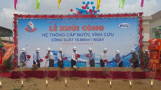 Khởi công nhà máy cấp nước 15.000 m3/ngày
