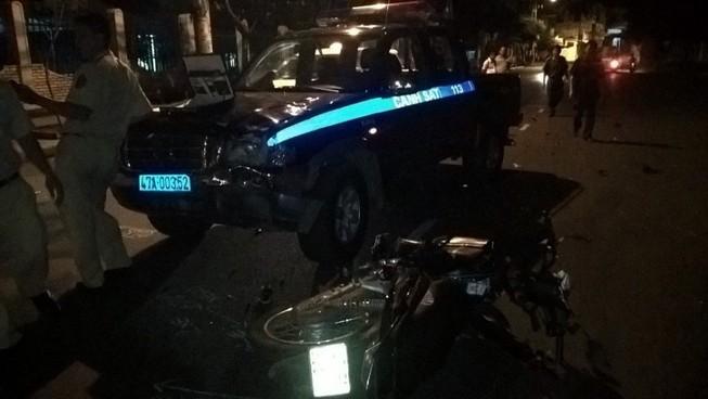 Xe cảnh sát 113 gây tai nạn chết người