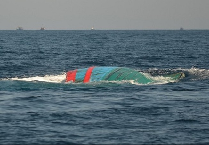Bốn ngư dân thoát chết sau vụ đâm va trên biển