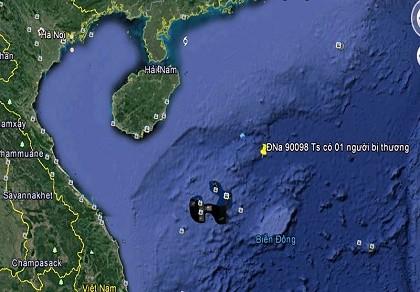 Trực thăng cứu một thuyền viên bị nạn gần quần đảo Hoàng Sa