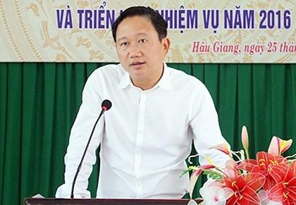 Đề nghị khai trừ đảng đối với ông Trịnh Xuân Thanh