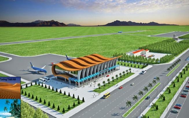 Điều chỉnh,mở rộng đường băng,nhà ga sân bay Phan Thiết
