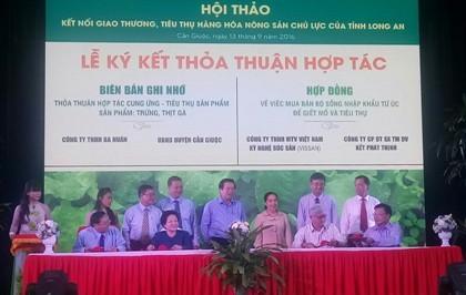 TP.HCM ký kết tiêu thụ chanh không hạt, chuối, rau thơm của Long An