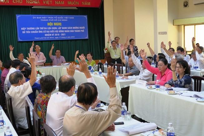 4 người tự ứng cử đại biểu HĐND TP.HCM vượt qua hiệp thương lần ba