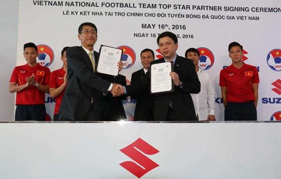 Suzuki tài trợ 2 năm cho các đội tuyển bóng đá Việt Nam