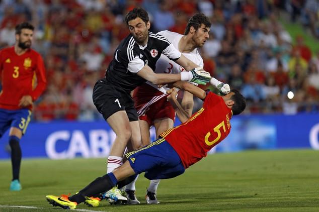 Tây Ban Nha thua sốc Gruzia