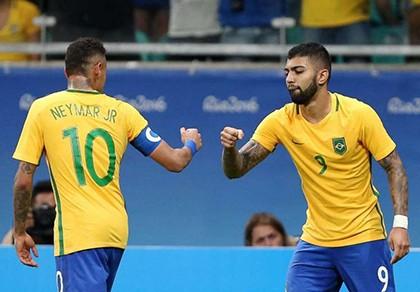 Neymar 'trốn' đâu trong chiến thắng '4 sao' của Olympic Brazil?