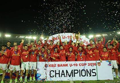 U-19 Việt Nam vô địch giải quốc tế KBZ Bank