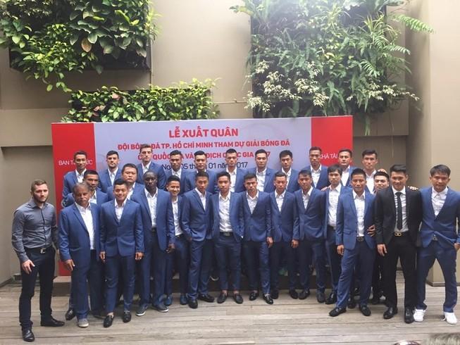 Tân binh V-League 2017 - CLB TP.HCM làm lễ xuất quân