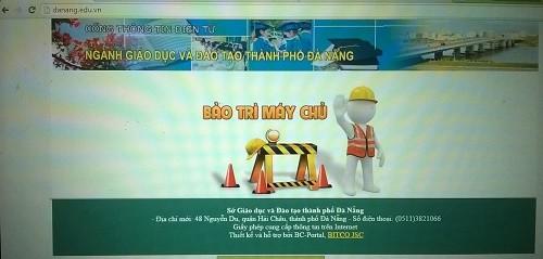 Hacker tấn công trang web của Sở GD&ĐT TP Đà Nẵng