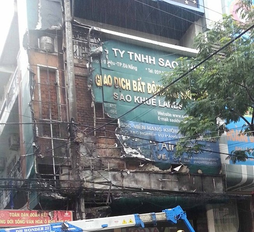 Cháy nổ lớn giữa trung tâm TP Đà Nẵng
