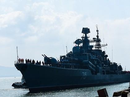 Ba chiến hạm Hải quân Nga cập cảng Đà Nẵng