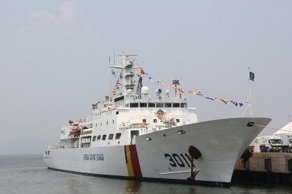 Tàu huấn luyện lực lượng bảo vệ bờ biển Hàn Quốc đến Đà Nẵng