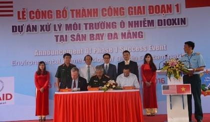 Xử lý xong 45.000 m3 đất nhiễm dioxin tại sân bay Đà Nẵng