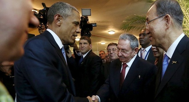 Lãnh đạo Mỹ-Cuba và cái bắt tay làm nên lịch sử