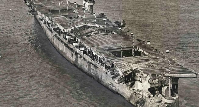 Tìm thấy xác tàu sân bay Mỹ từng thử bom hạt nhân