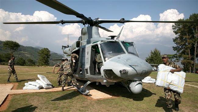 Trực thăng cứu hộ Mỹ mất tích trong động đất Nepal