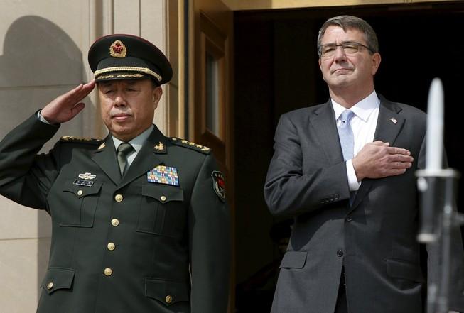 Tiếp đón tướng Trung Quốc, Mỹ yêu cầu dừng xây đảo nhân tạo