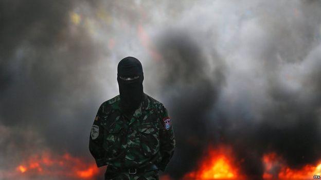 Nhóm 'diều hâu' Kiev biểu tình, đòi đánh Đông Ukraine