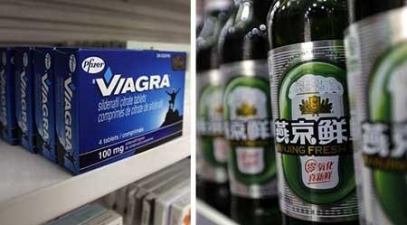 Hàng ngàn chai rượu Trung Quốc có pha chất của Viagra