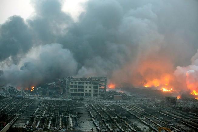 Thêm một vụ nổ chấn động thành phố Thiên Tân