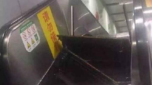 Thêm một sự cố thang cuốn làm 'thót tim' người Trung Quốc