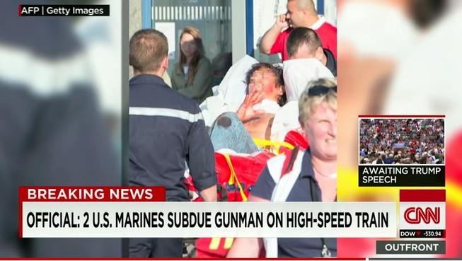 Khủng bố tàu cao tốc Bỉ, 'không may' gặp lính Mỹ
