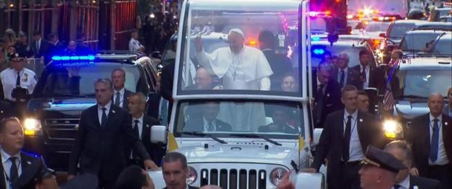 Thành phố New York đón Giáo hoàng như đón tiếp Tổng thống