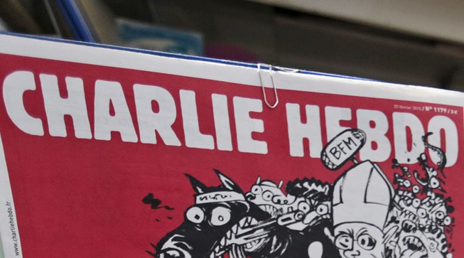 Nga nổi giận trước bức biếm họa máy bay rơi của Charlie Hebdo