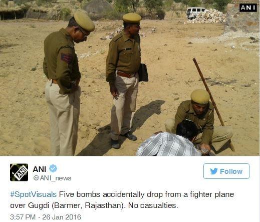 Chiến đấu cơ Ấn Độ 'sơ ý' đánh rơi bom xuống khu dân cư