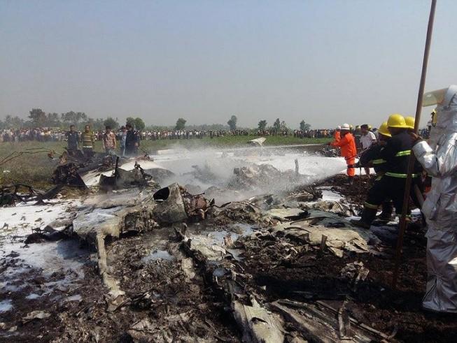 Máy bay quân sự rơi tại Myanamar, nhiều sĩ quan thiệt mạng