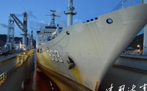 Hải quân Trung Quốc ra mắt bến tàu nổi đầu tiên