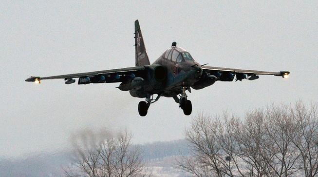Máy bay Su-25 của Nga rơi, phi công tử nạn