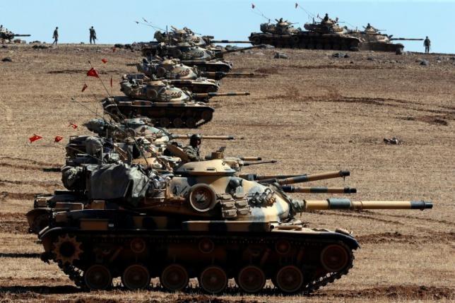 Thổ Nhĩ Kỳ dội pháo biên giới Syria, tiêu diệt 55 phần tử IS
