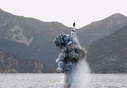 Triều Tiên phóng tên lửa đạn đạo từ tàu ngầm thất bại