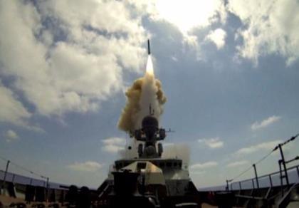 Tàu chiến Nga dội tên lửa hành trình vào Syria