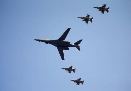 Máy bay ném bom Mỹ  bay cách biên giới Triều Tiên 77 km