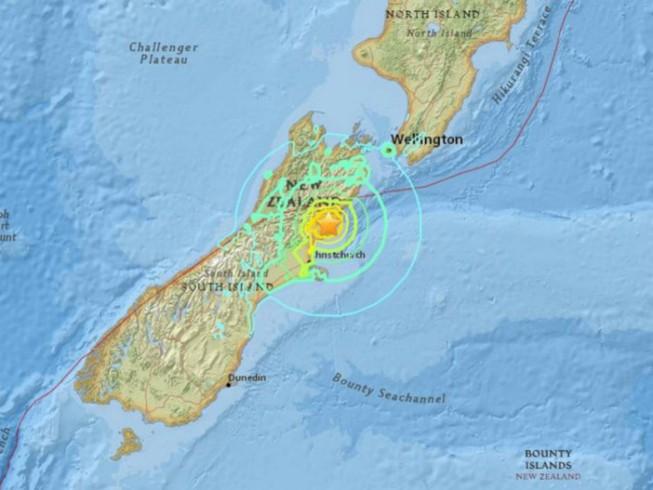 Động đất rung chuyển New Zealand, báo động sóng thần