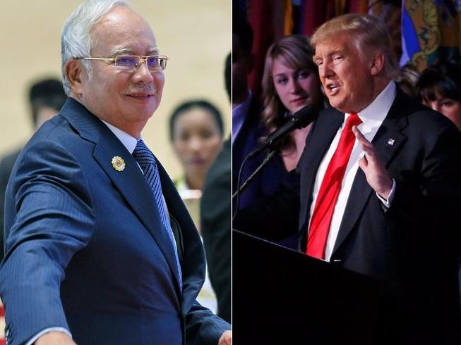 Trump điện cho thủ tướng Malaysia, thắt chặt quan hệ