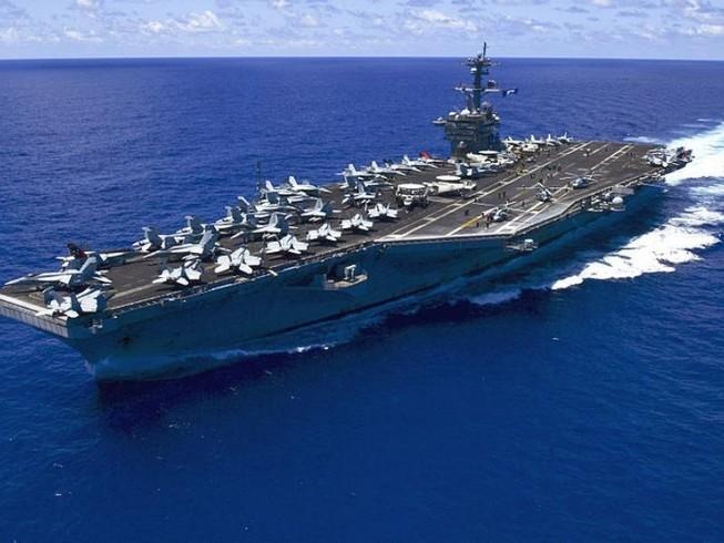 Siêu tàu sân bay của Mỹ sắp đến tập trận với Hàn Quốc
