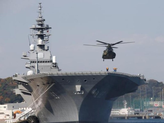 Tàu sân bay lớn nhất Nhật Bản sẽ đến Biển Đông?