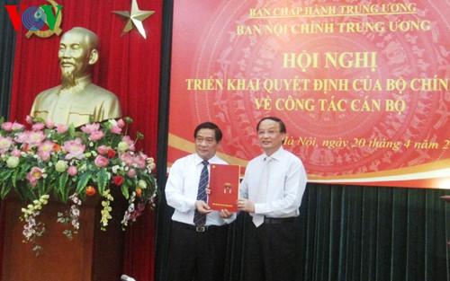 Nhân sự mới Ban Nội chính Trung ương