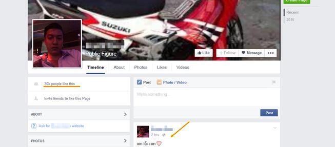 Xuất hiện Facebook giả nghi can Nguyễn Hải Dương để câu like