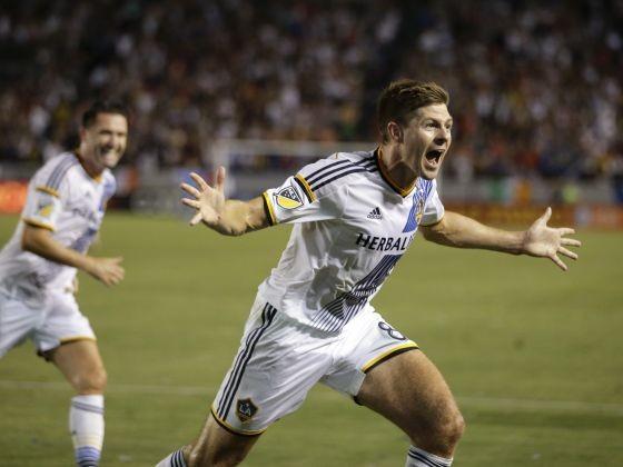 Gerrard ghi bàn đầu tiên cho LA Galaxy