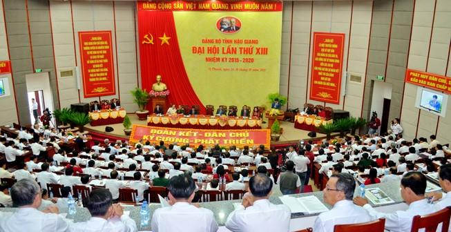 Khai mạc đại hội đảng bộ Hậu Giang nhiệm kỳ 2015-2020