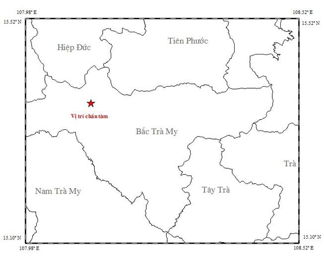 Xảy ra động đất kèm nhiều tiếng nổ lớn ở Quảng Nam