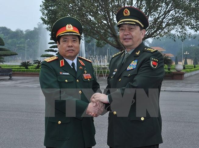 Bộ trưởng Quốc phòng Việt-Trung trao đổi về tranh chấp trên biển Đông